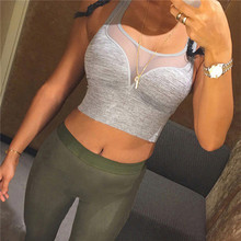Fitness Yoga Sports Bra Push Up Padded For Womens Gym Running Tank Top Athletic Vest Underwear Shockproof Strappy Sport Bra Top