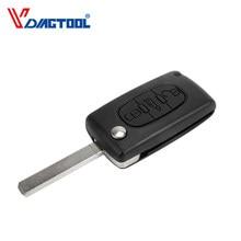 VDIAGTOOL 3 кнопки дистанционного ключа корпус с кнопкой багажника для ключ автомобиля Peugeot чехол без аккумулятора без лезвия канавки (CE0523)