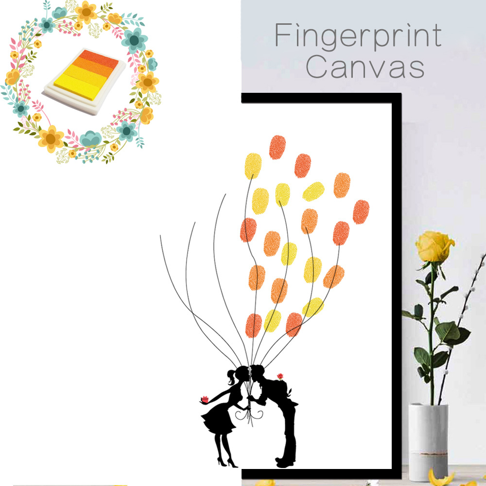 KEDODE Creative Sign In Tree DIY Coloring Numbers Fingers Doodle Decoration Wedding Party Birthday Fingerprint Sign Souvenirs