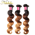 3PCS Peruvian Body Wave Ombre Human Hair Weaves T1B-4-27 Peruvian Ombre Hair 16-26 Peruvian Virgin Hair Peruvian Ombre Body Wave