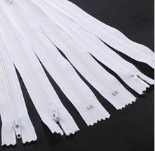 20 unids blanco Upcik Color de las porciones Nylon bobina cremalleras Tailor coser herramientas accesorios