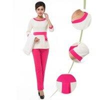 [SET] Women's Long Sleeve Spa Uniform / Nurses Uniform for Hospital /Spa Club Tunics / High Quality Nursing Scrubs