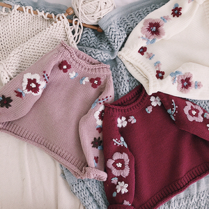 Baby Sweater Newborn Girls Sweaters Cardigans 2018 Autumn Causal Toddler Long Sleeves Knitwear Jackets Winter Children Knit Tops(China)