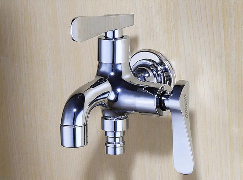 Aliexpress.com : Doppel Wasser Outlet Garten Waschmaschine Wasserhahn  Messing Tippen Badezimmer Bidet Wasserhahn Poliert Verchromt Schnelle Auf  Armaturen ...