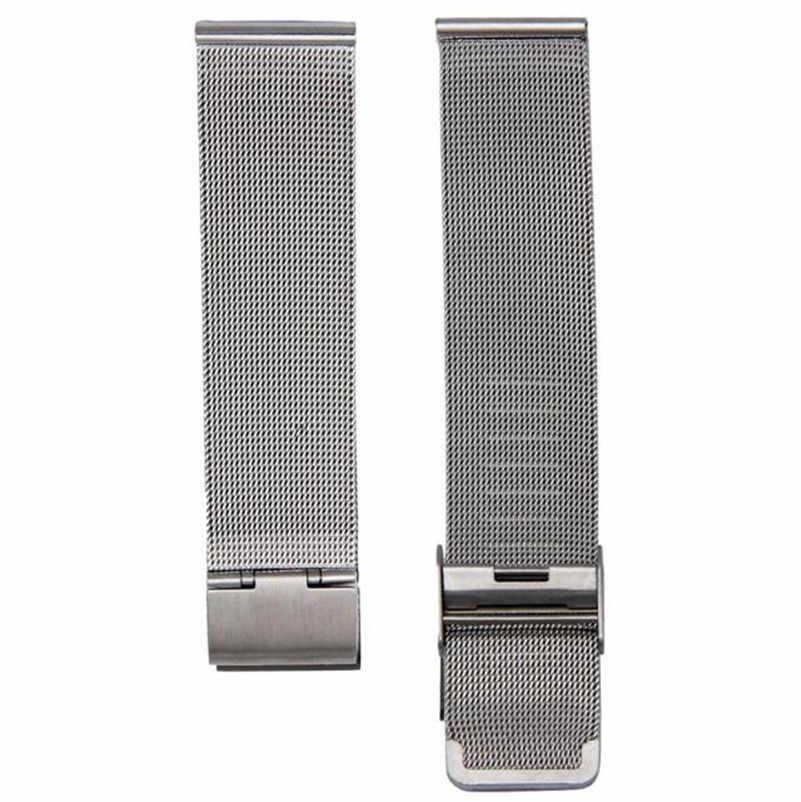 Offre spéciale 18mm 20mm 22mm 24mm nouvelle mode milanaise en acier inoxydable montre-bracelet en argent bracelet de haute qualité montre accessoires