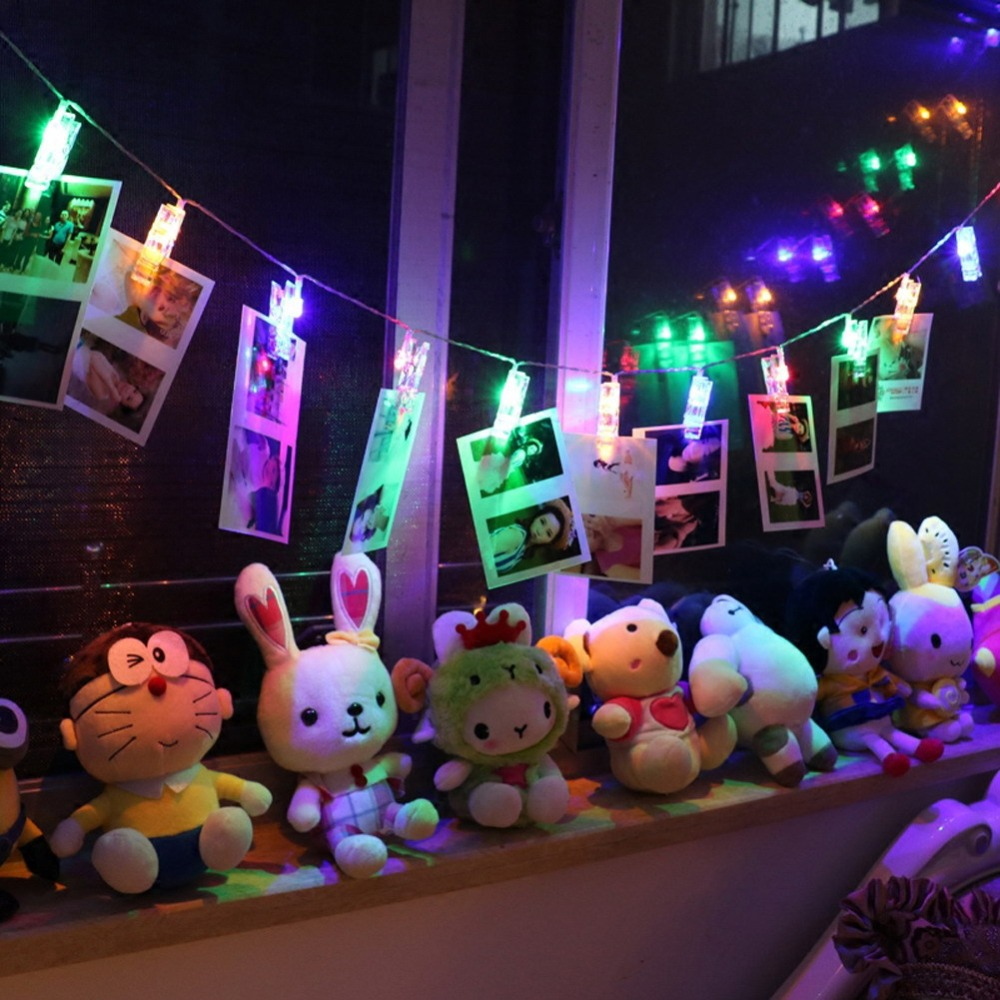 Novelty ornaments - 2m 20led Novelty Fairy String 20 Clips Fashion Holiday Lighting Battery Wedding Garden Party Christmas Indoor Decoration
