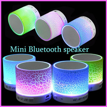 LED Portable Mini Bluetooth Speakers Wireless Hands Free Speaker With TF USB FM Mic Blutooth Music For cell Phone iPhone 6 7 s