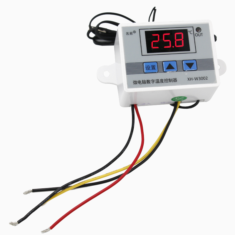 10pcs/lot Temperature Control W3002 Switch Sensor with probe 220v 12V 24V Thermostat Controller -50 ~ 110C  40%off купить