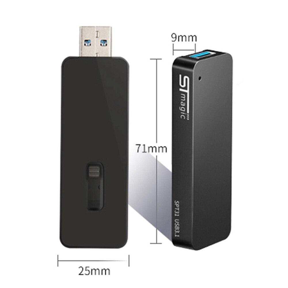 STmagic SPT31 256GB 512GB 1 to Mini Portable M.2 SSD USB3.1 lecteur SSD externe pour ordinateur Portable vitesse de lecture 500 mo/s SSD - 5