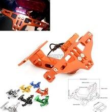Motorcycle Angle Aluminum License Number Plate Frame Holder Bracket  For Honda CB1000R CB1100 CB599 / CB600 HORNET CB600F цена
