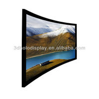 106 Inch Curved Frame Projector Screen Curved Frame Screen 106 Inch Curved Screen For Cinema Large