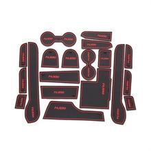 Двери паз коврики Для Mitsubishi Pajero спорт Non-slip Интерьер двери колодки/Световой кубок мат двери слот ворота мат, авто аксессуары