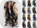 Fashion Real Jersey Scarf 2016 Women Instant Oversized Muslim Islamic Hijab Neck Printed Slip On Shawl 79 Colours Freeshipping