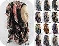 Moda Real Jersey Hijab Islâmico Muçulmano Cachecol 2016 Mulheres Instantânea de Grandes Dimensões Pescoço Impresso Deslizamento Xale 79 Cores Freeshipping
