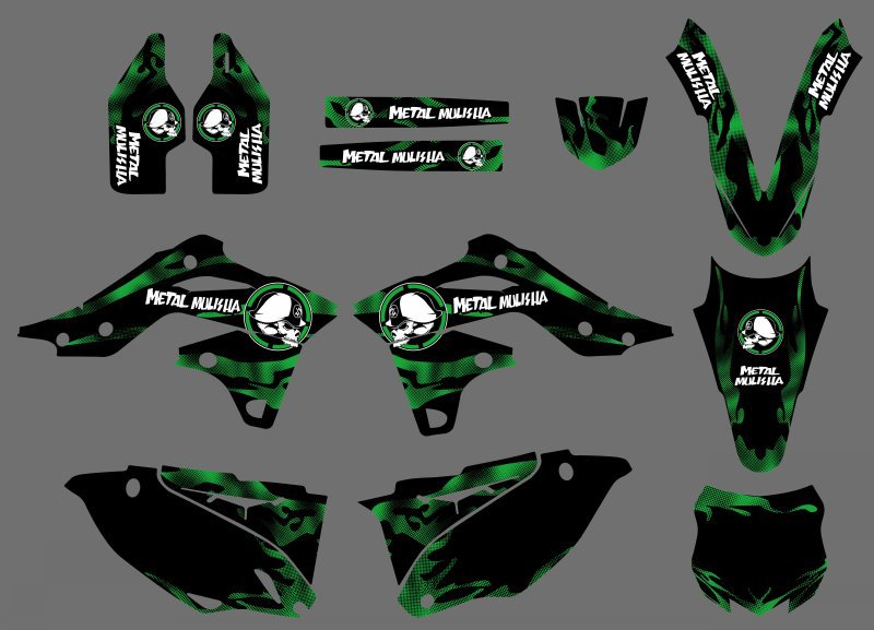 цены New Style 0435 Dark Green TEAM GRAPHICS & BACKGROUNDS DECALS STICKERS Kits For Kawasaki KX250F KXF250 2013 2014 KXF 250 KX 250F