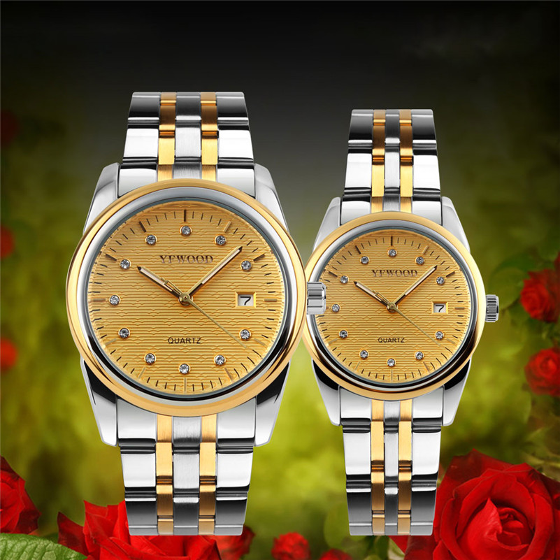 все цены на Men Wrist Watches Military Sports Unique Design Couple Stainless Steel Band Quartz Watches Women Leisure Watch Relogio Masculino онлайн