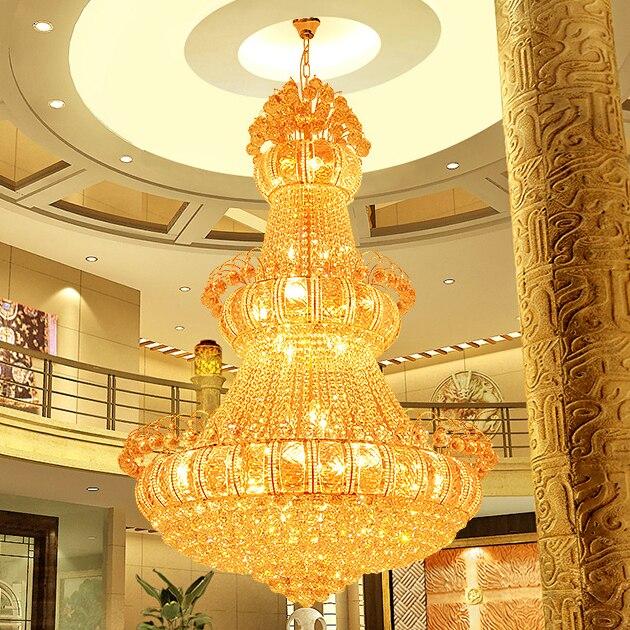 Gold Crystal Chandeliers Lights Fixture American Modern Droplights Home Indoor Lighting Hotel Club Lamps Ac90v 260v