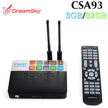 3G/32G Amlogic CSA93 S912 Cortex-A53 Octa Core ARM Android 7.1 TV Box WiFi BT4.0 2.4G/5.0G 4 K H.265 meida jugador inteligente