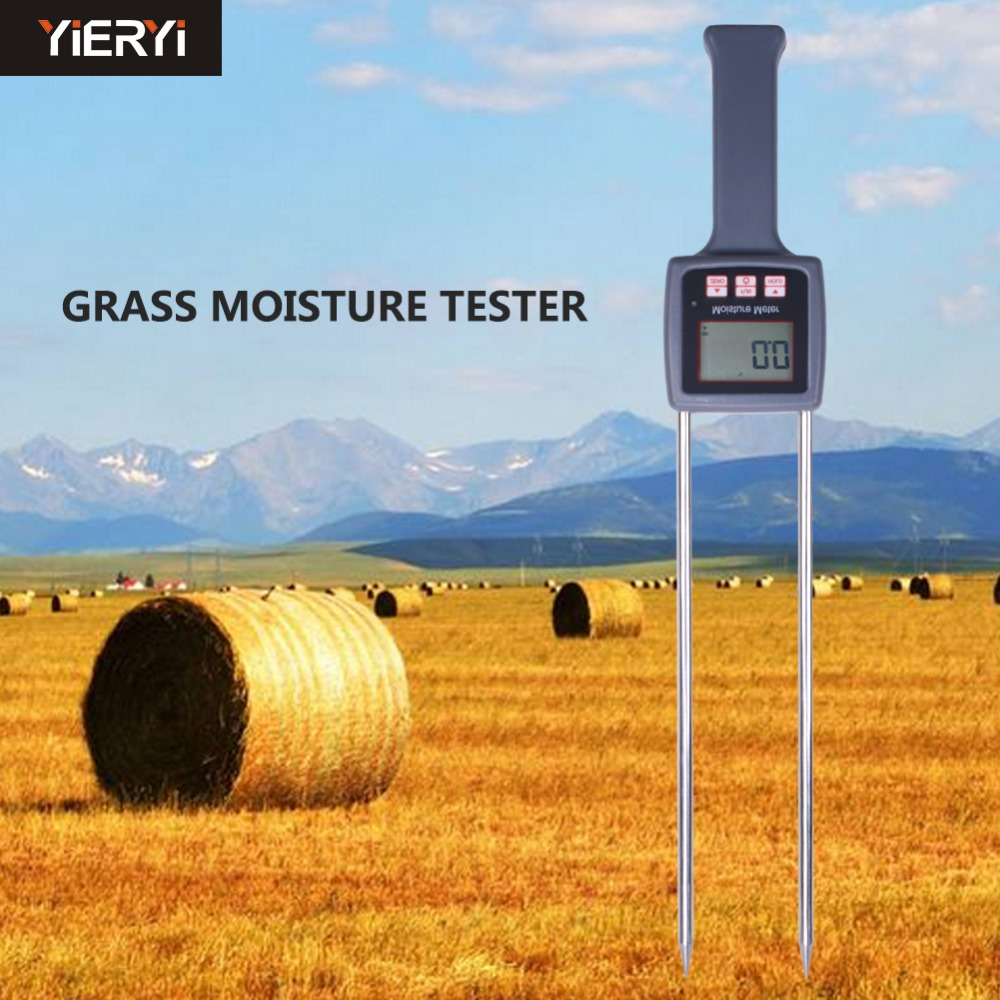 TK100H Portable Hay Moisture Meter for cereal straw,bran,  Forage grass, Leymus chinensis, Emperor bamboo grass, testing fibre wrong for hay гаджет