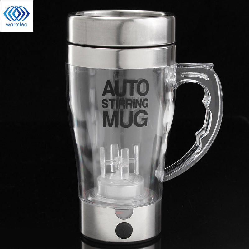 500ML Auto Stirring Mug Electric Protein Shaker Blender Mixer Lazy Self Stir Milk Coffee Cup Smart Mixer Bottle Office Household portable blender mini mixer automatic self stirring mug