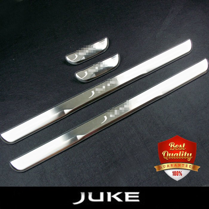 Car-styling Stainless Steel Door Sills Scuff Plate fit for NISSAN JUKE 2010-2018 Dual Tone Door sills