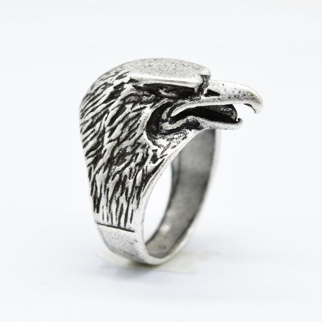 1pcs Dropship Viking Raven Rings For Men Talisman Amulet Bird Ring