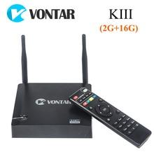 [Auténtica] 5.1.1 VONTAR KIII Android TV Box 2 GB/16 GB Amlogic K3 S905 2.4/5G Dual Wifi 1000 M Gigabit LAN BT4.0 UHD 4 K 3D KODI