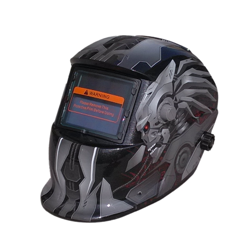 Auto Darkening TIG MIG MMA Skull Solar Electric Welding Mask/Helmet/Welder Cap/Welding Lens for Welding Machine ORPlasma Cutter free post welder cap for welder operate the tig mig mma zx7 plasma cutter welder helmet polished chrome welding we are the best