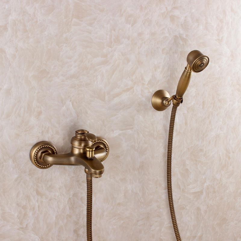 2015 offerta speciale rubinetti doccia rame antico doccia vasca da bagno rubinetto calda e fredda valvola