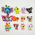 12pcs LPS cute toys little cat horse Chihuahua Puppy Dog fairy Lovely Pet shop animal action figure littlest doll