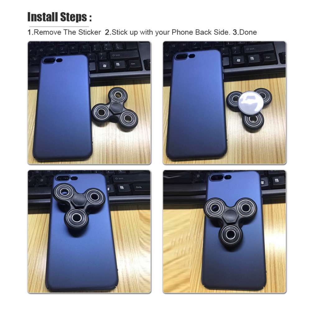 10PCS Wholesale For iphone 7 Case Fidget Spinner Anti Stress Spiner Finger Spinner Hard PC Cover for iphone 6 6s 7 plus Cases