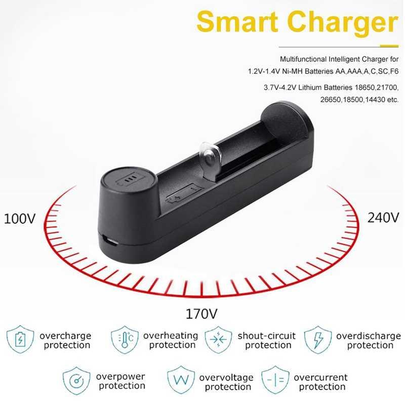 USB الناتج شاحن 18650 شاحن بطارية الليثيوم 26650 21700 18340 C1 شاحن بطارية
