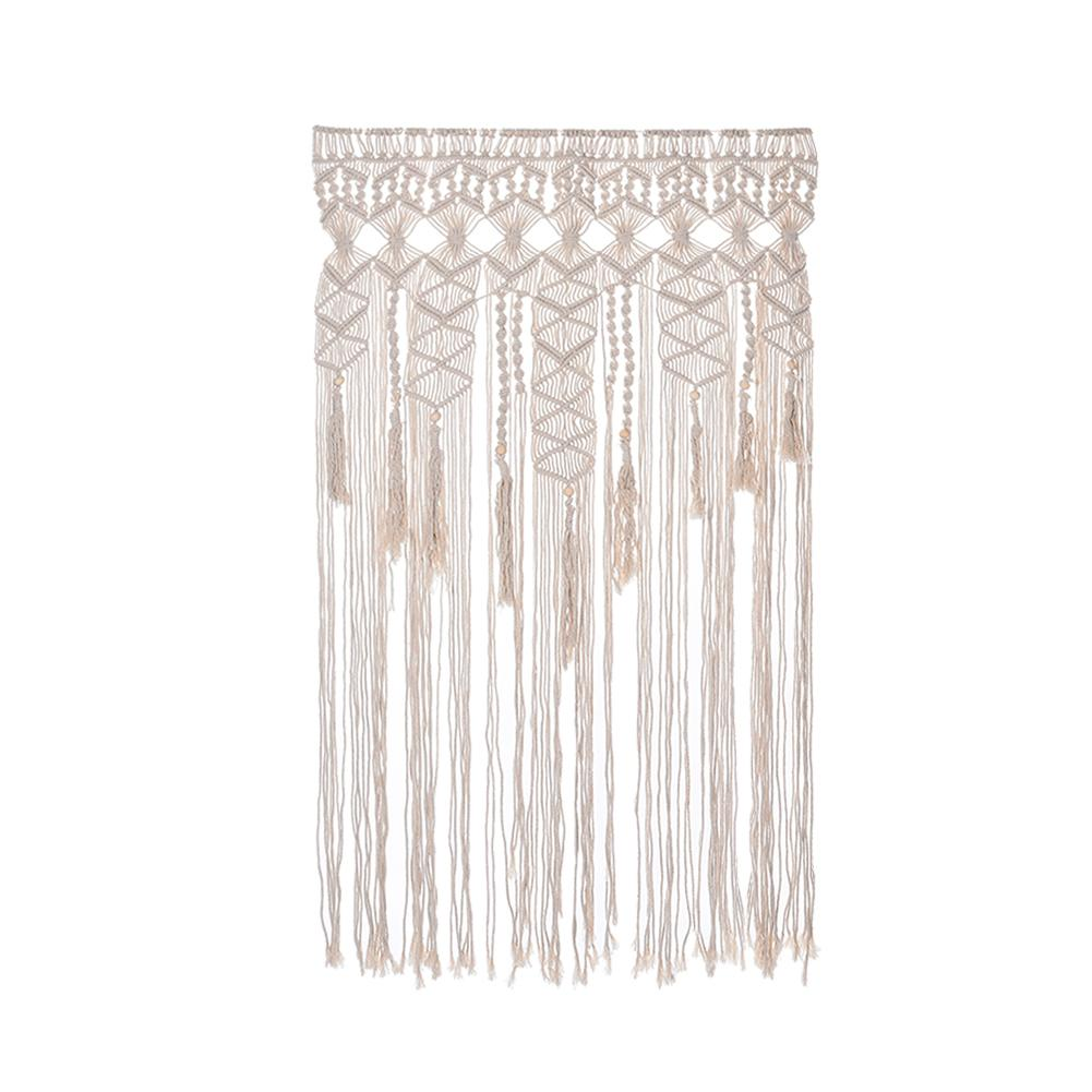 90*120cm Nordic Style Hand Woven Tapestry Bohemian Macrame Woven Wall Hanging Handmade Tapestry Home Wedding Ornaments