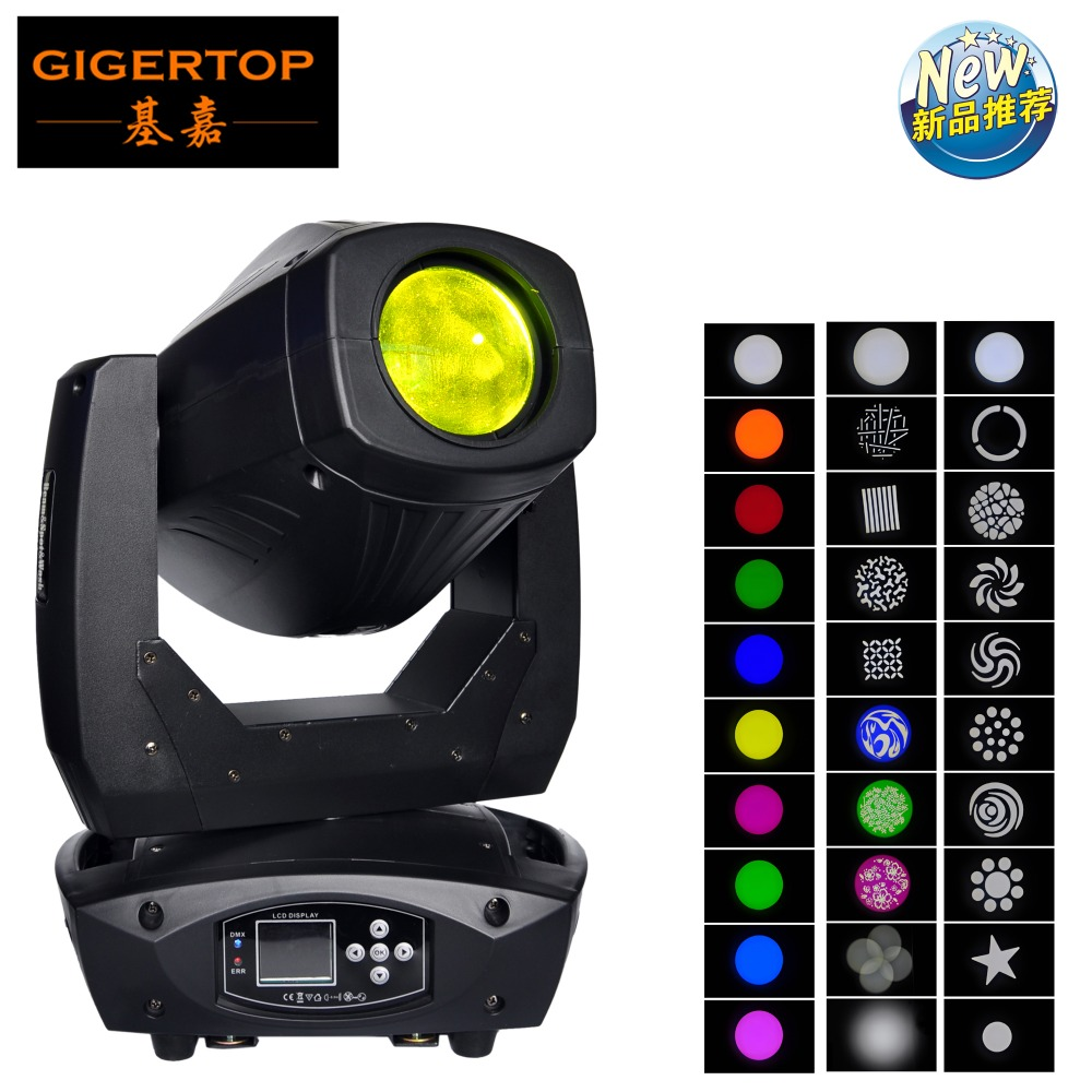 Gigertop Stage Light 200W Blizzard Lighting Spot 200 Watt Gobo LED Moving Head Aura Effect DMX for Show DJ Disco Party Stage show plaza light stage blinder auditoria light ww plus cw 2in1 cob lamp 200w spliced type for stage