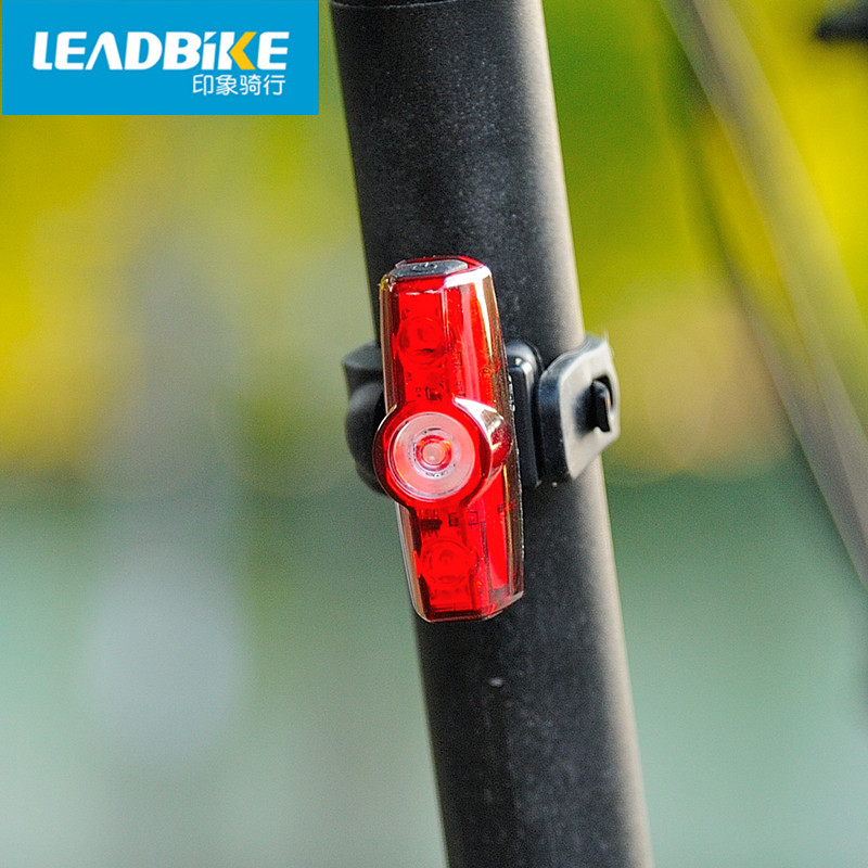 Leadbike Cycling Tail Light Bicycle Rear Light 3 Led USB Rechargeable Bike Taillight Waterproof Safe Warning Signal Lamp 4 Modes