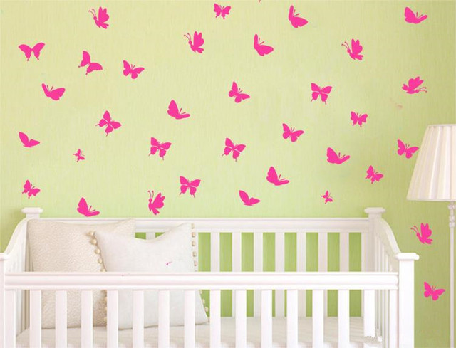 70pcs Butterfly Personalized DIY Vinyl Butterflies Decoration Wall ...