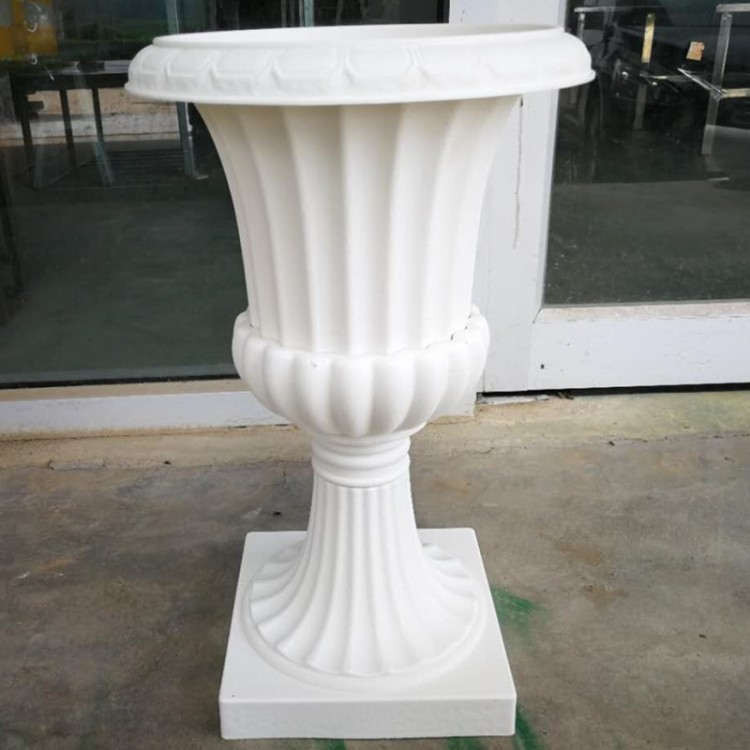 Colonnes romaines blanches de Style haut de gamme piliers en plastique route cité accessoires de mariage décorations de fond de mariage fournitures 2 pcs/lot - 3