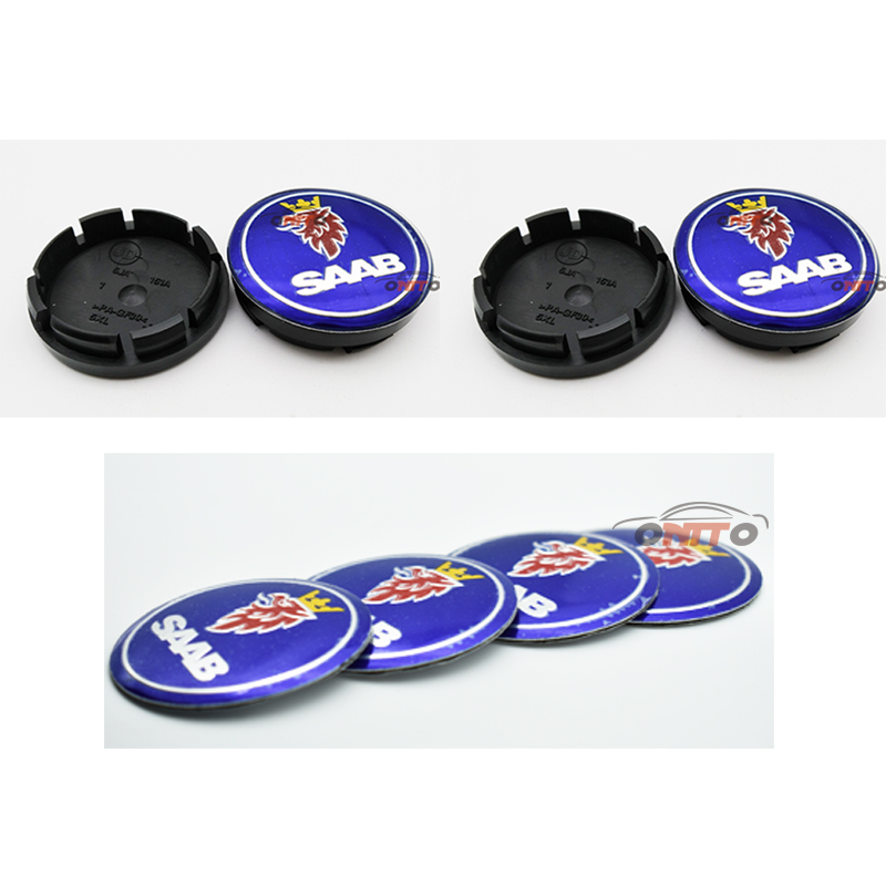 Free shipping 20pcs 56 stickers/56.5 wheel center stikcers / Car Wheel Center Hub Cap Badge covers 3D logo Decal fit for saab