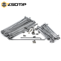 ZSDTRP 40pcs Motorcycle Front and Rear Stainless Steel Rim Wheel Spokes Kit Set For BMW R12 R75 R72 M1 M72 Ural CJ K750
