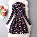 Spring And Autumn New Fashion Women Dress Casual Loose Long Sleeved Shirt Dresses Printed Long Sleeve Mini Vestidos Dresses