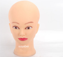 Soft PVC woman display head  mannequin for hats female