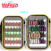 54PCS Scud Shrimps Combo Trout Fishing Scud Cezch Fly Fishing Fly Nymphs Multiple Color