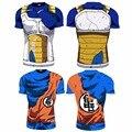 2016 Ball Z Hombres 3D Dragon Ball Z Camiseta Vegeta Goku Verano Estilo Jersey 3D Tops Moda Ropa Camisetas Plus