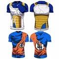 2016 Ball Z Men 3D Dragon Ball Z T Shirt Vegeta Goku Summer Style Jersey 3D  Tops Fashion Clothing Tees Plus
