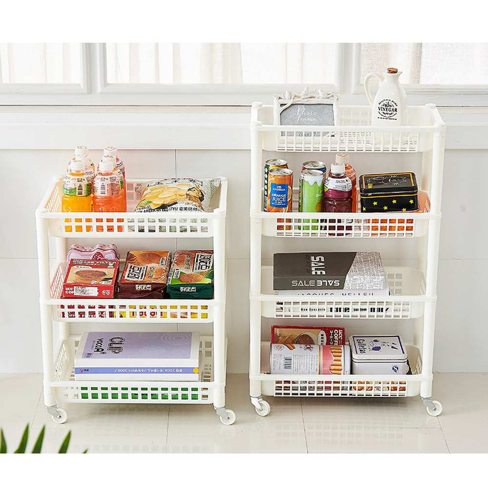 Detachable Plastic Durable Storage Rack Removable Storage Shelf Kitchen Bedroom Bathroom Makeup Living Room Storage Rack