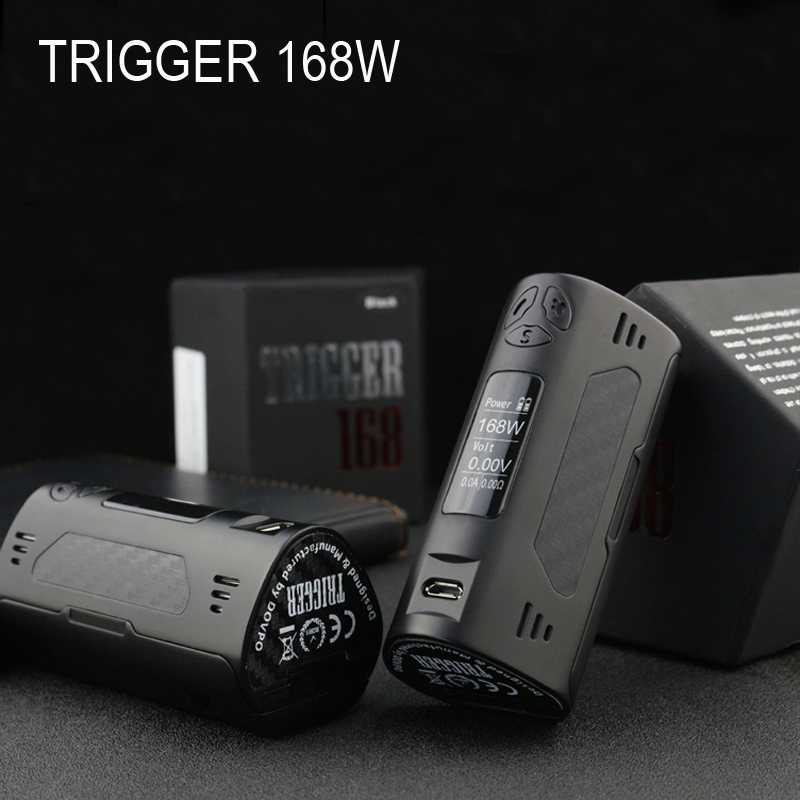 Original Electronic Cigarette DOVPO TRIGGER 168w box mod TC mode fit 510 thread atomizer RDTA RDA 18650 VS eleaf ikonn 220 vape