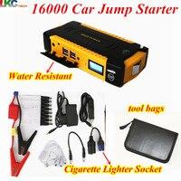 Best Quality new bag 16000mAh 12V Car Jump Starter Portable 600A Peak Car Charger 4USB Compass SOS Light for Petrol Diesel Car