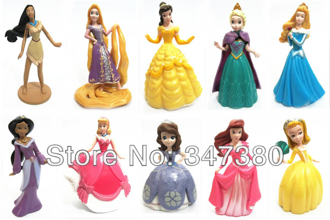Wholesale and Retail10pcs/set High Quality PVC Princess Tinkerbell Doll Toy Collection Figure Toys