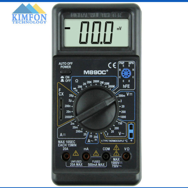 DHL Fedex 100 teile/los Digital Multimeter M890C + Einheit Symbol ...