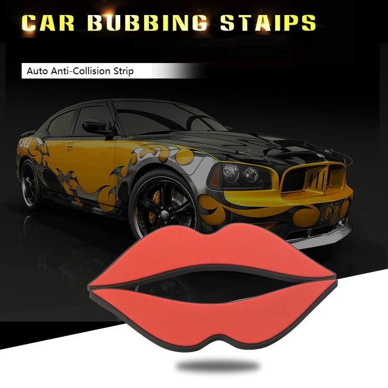 New Car Anti-collision Strip Bumper Protector Car Door Crash Bar Anti-rub Bar Sticker Sexy Lips Car Styling Hot Sale